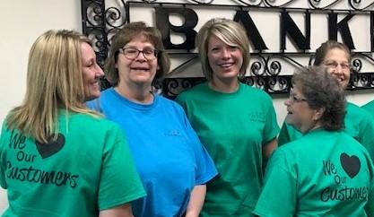 Bank Employees Volunteering